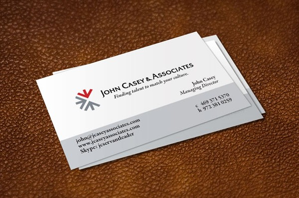 business cards for John Casey & Associates