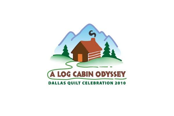 logo for quilt show - Log Cabin Odyssey