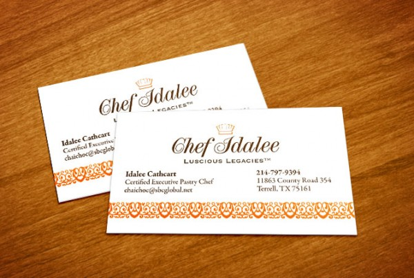 business card for Chef Idalee