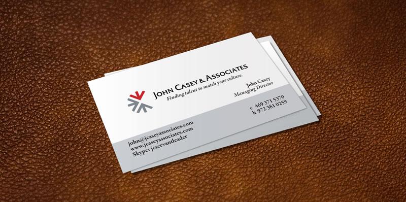 John Casey Amp Associates Business Card Fran Casey Design