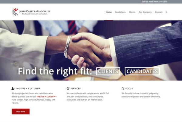 Wordpress website for John Casey Associates